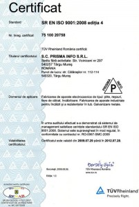 Certification ISO 9001:2008 4th-edition