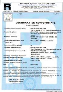 Certificate of Conformity 2007-10-11