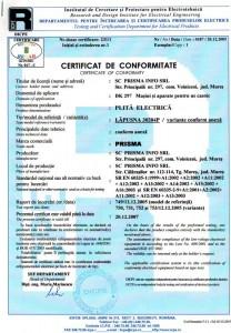 Certificate of Conformity 2005-12-20