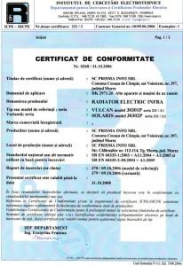 Certificate of Conformity 2006-10-31