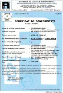 Certificare Conformitate 2006-06-30